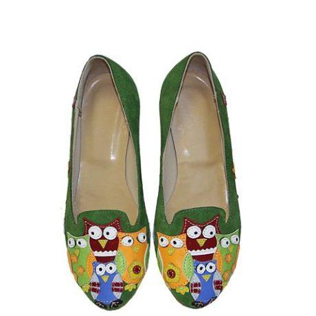 туфли с аппликацией