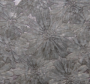 Цветы (металлик) серый