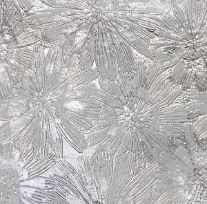 Цветы (металлик) серебро