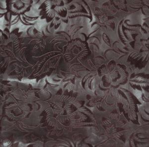 Цветы на велюре (тёмно-бордовый)