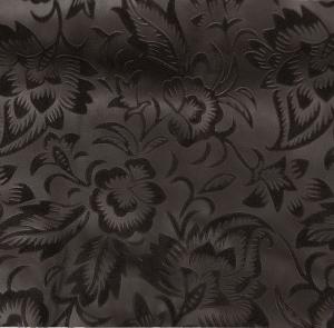 Цветы на велюре (темно-коричневый)