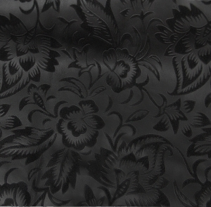 Цветы на велюре (черный)